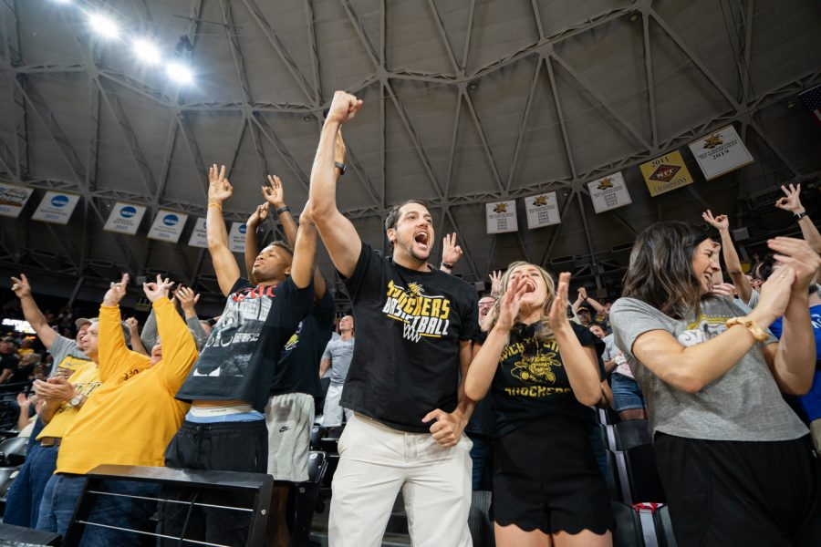 Fans go wild during the Aftershocks' game against the Ex-Pats during the TBT on Friday, July 16.