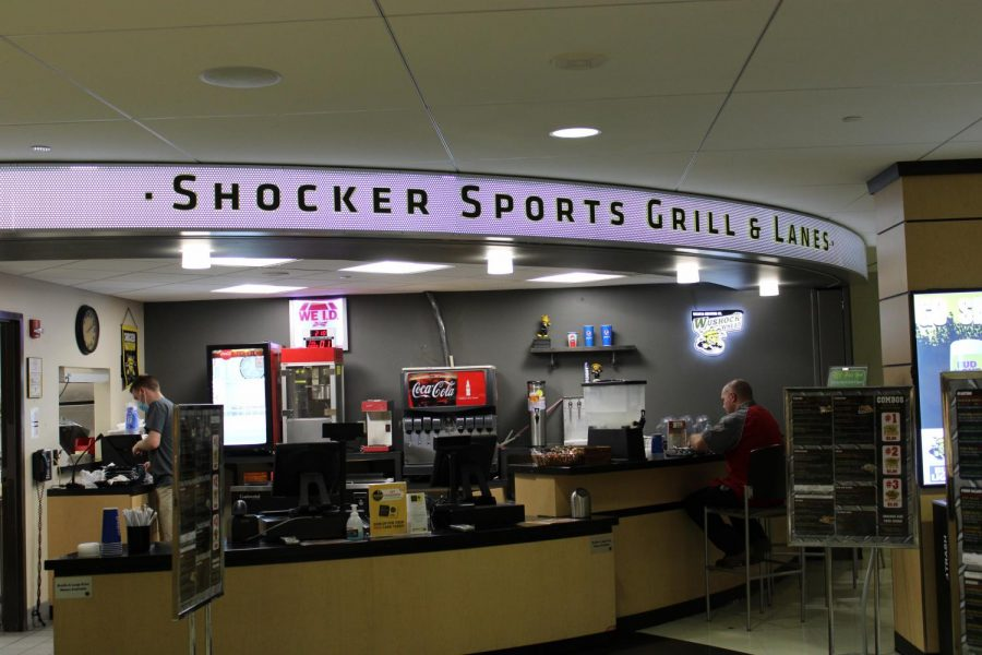 Shocker Sports Grill & Lanes located in the basement of Rhatigan Student Center