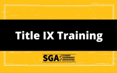 Screenshot of a video posted on SGA's Facebook page. Mandatory Title IX training for WSU students opens July 1st, 2021.