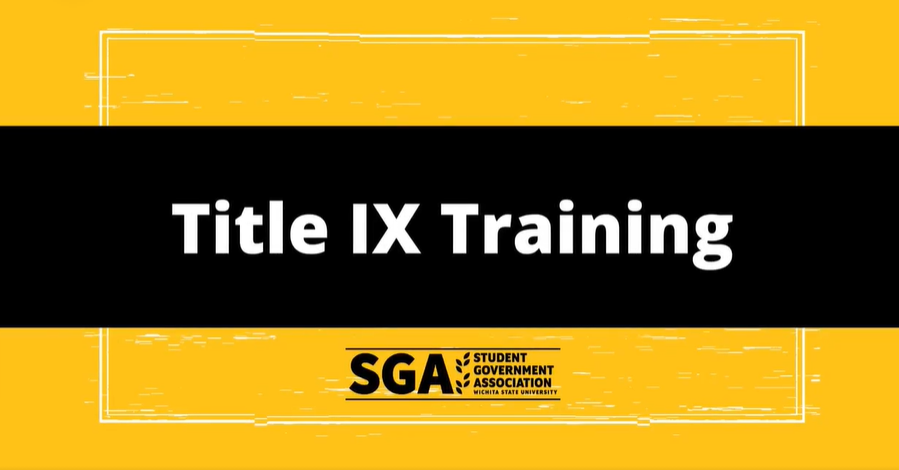 Screenshot of a video posted on SGAs Facebook page. Mandatory Title IX training for WSU students opens July 1st, 2021.