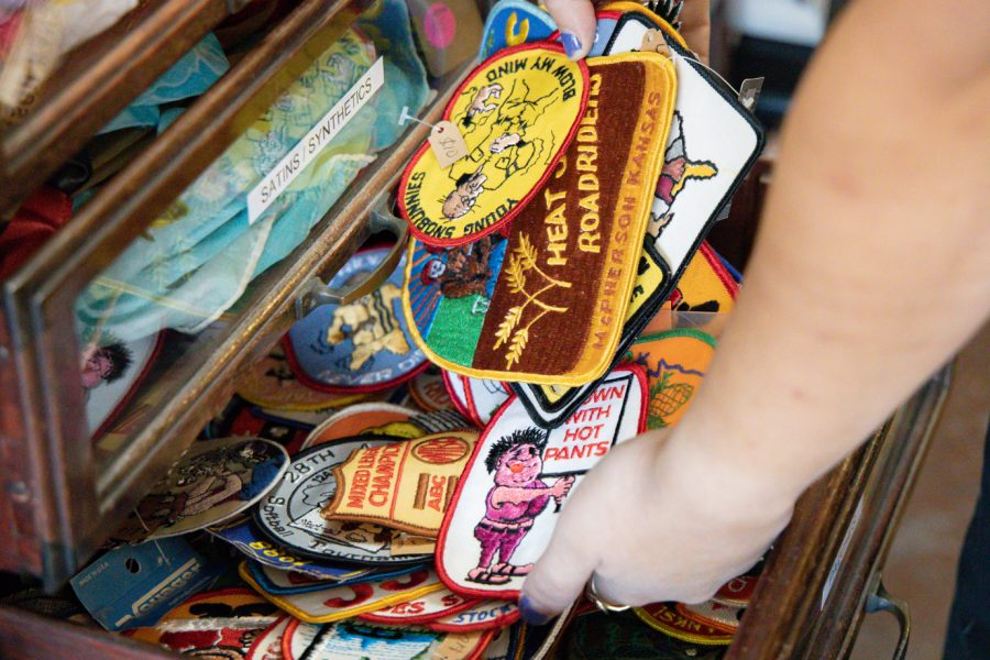 Vintage patches for sale at Dead Center Vintage.