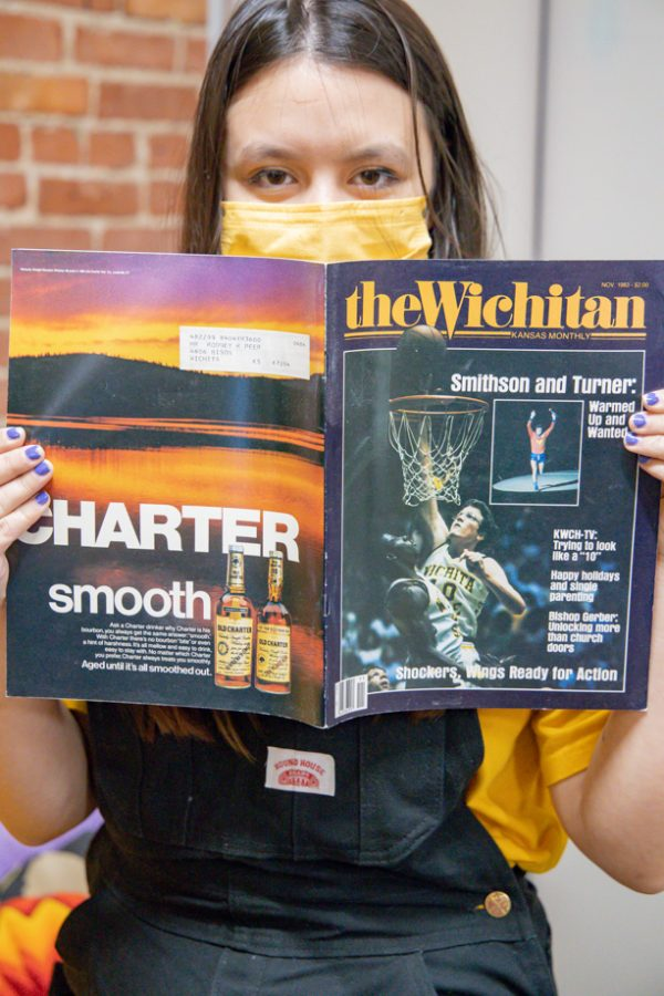 Mackenzie Borland is showing a vintage copy of The Wichitan which  is now Splurge in  Dead Center Vintage.