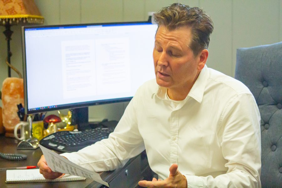 Brien Bolin, the Associate Dean of Student Success, discusses the steps a student should take when they have problems with a professor on Aug. 18, 2021.
