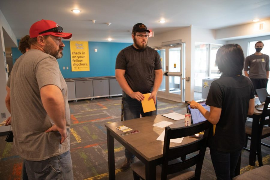 Students are checking in to their new home, The Flats at WSU on August 13