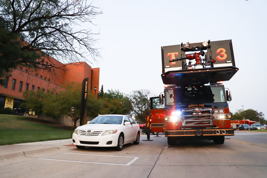 The Fire Department responded to a reported fire at Ahlberg Hall on Wednesday evening