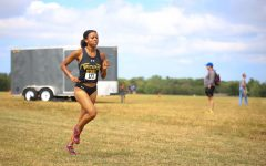 Wichita State senior Yazmine Wright races during the JK Gold Classic on Sept. 4 at the 4 Mile Creek Resort.