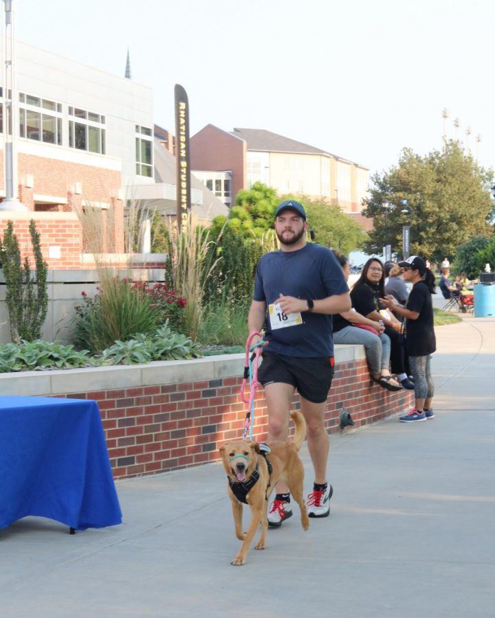Suspenders4Hope hosted a run/walk event at the Wichita State Student Rhatigan Student Center. Some of the participants even brought their dogs along for the run on Sept 11.