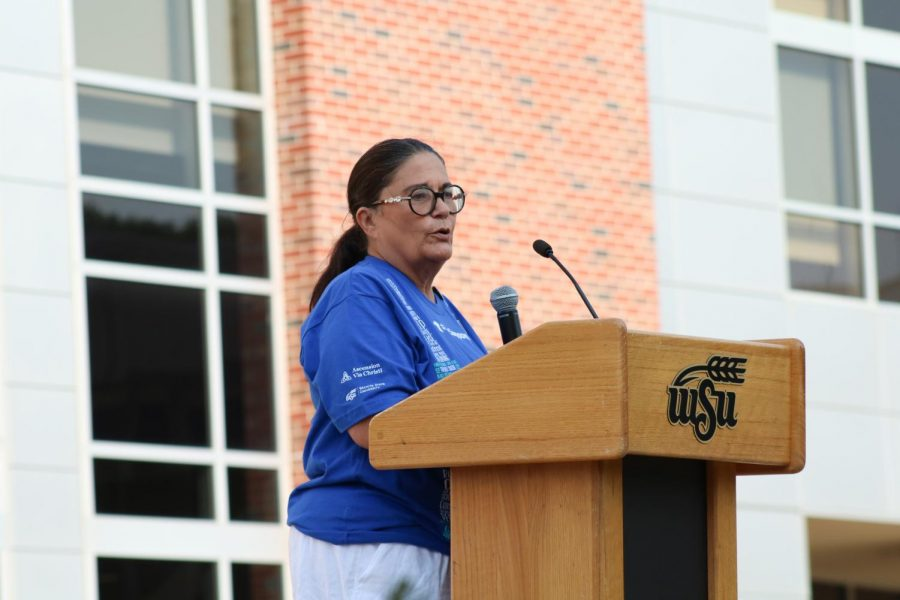 Suspenders4Hope hosted a run/walk event at the Wichita State Student Rhatigan Student Center. The event had five guest speakers including a spokesperson from Via Christi Hospital on Sept 11.