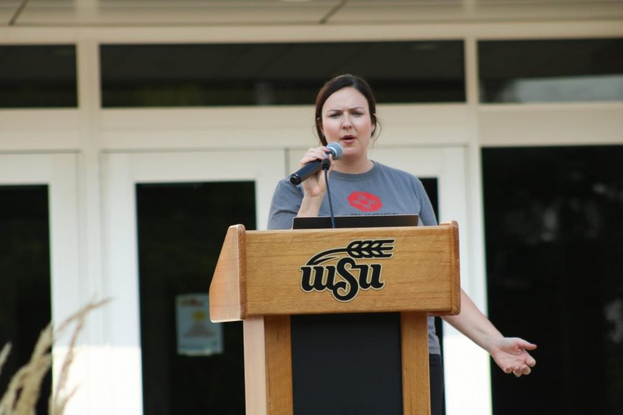 Suspenders4Hope hosted a run/walk event at the Wichita State Student Rhatigan Student Center. The five guest speakers explained their personal mental health journey and what mental health means to them on Sept 11.