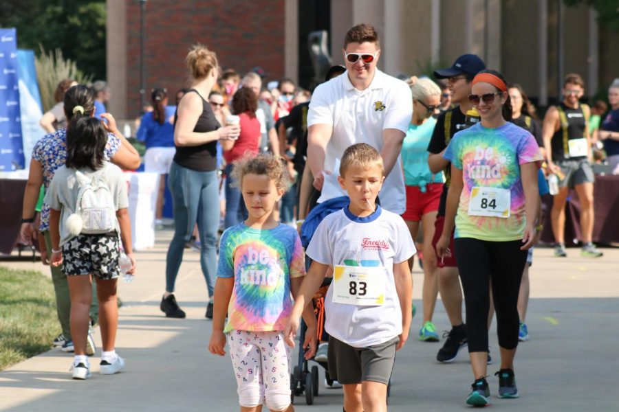 Suspenders4Hope hosted a run/walk event at the Wichita State Student Rhatigan Student Center on Sept 11.