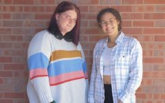 Mariah Bassett and Jay Newfield wear their favorite fall outfits on Oct. 6 2021.