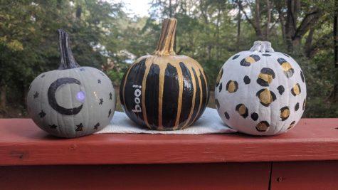 There are many ways to decorate your pumpkins for the season, such as painting them with whatever design your heart desires.