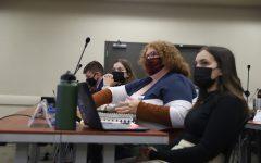 Senators discuss legislation during their meeting on Oct. 20